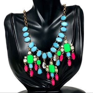 J.Crew Eye Candy Beaded Crystal Statement Necklace
